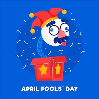 Flat april fools' day