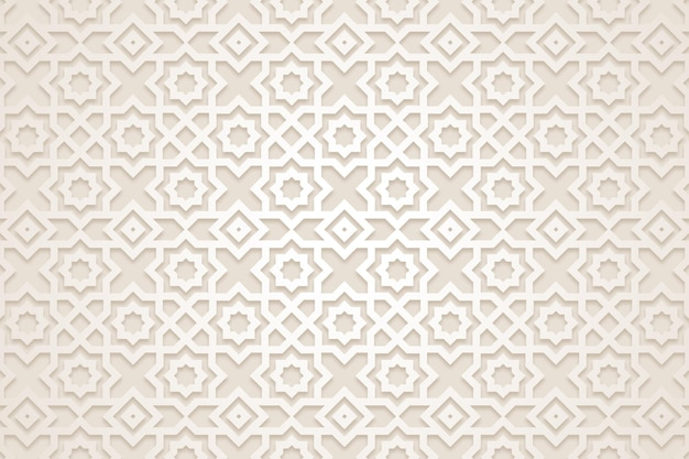Flat arabic pattern background
