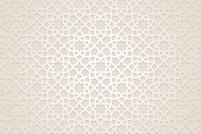 平面阿拉伯图案背景