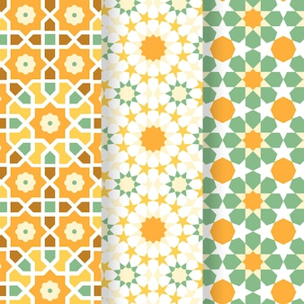 Flat arabic pattern collection