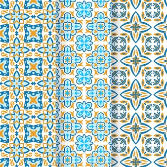 Коллекция плоских арабских узоров