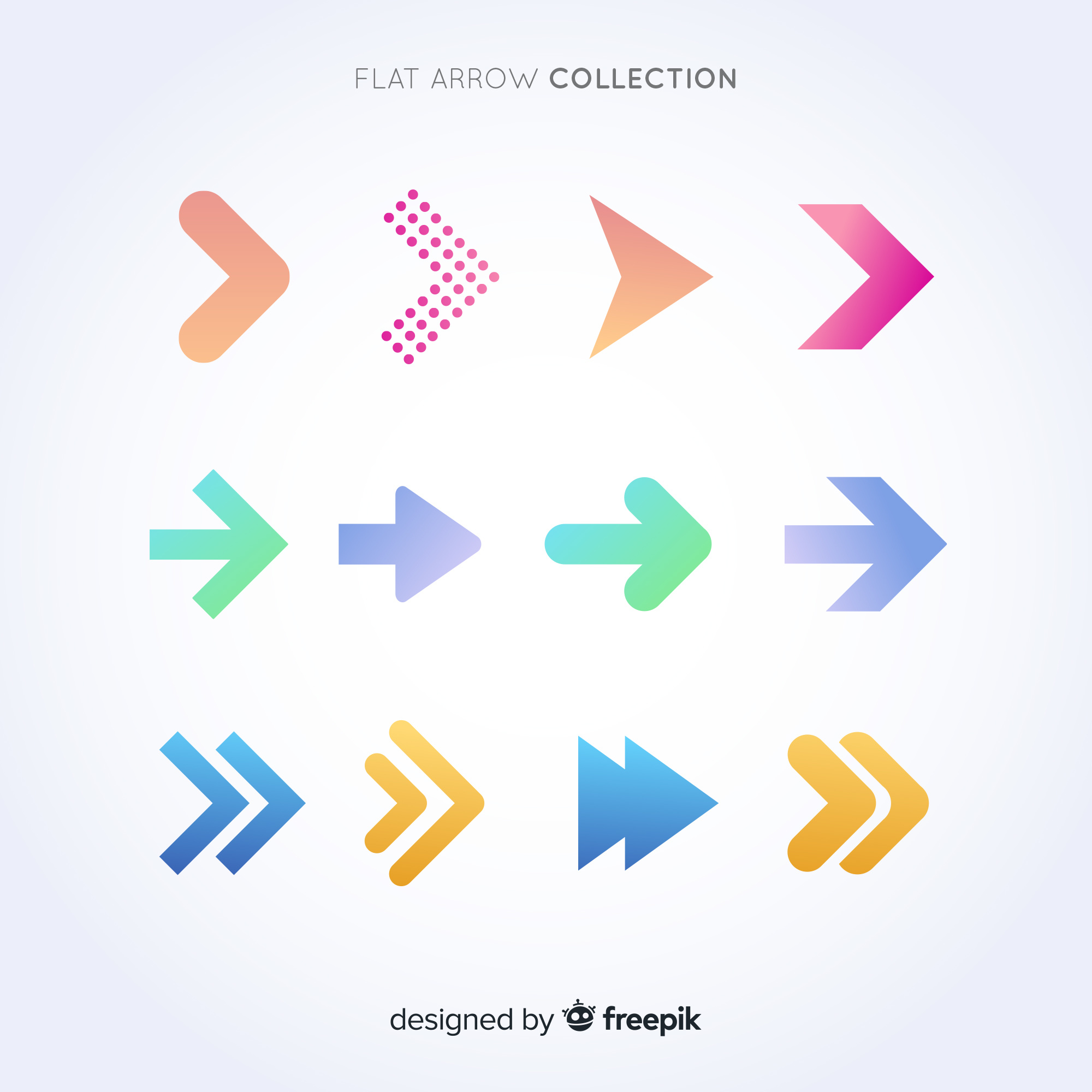 Flat arrow collection