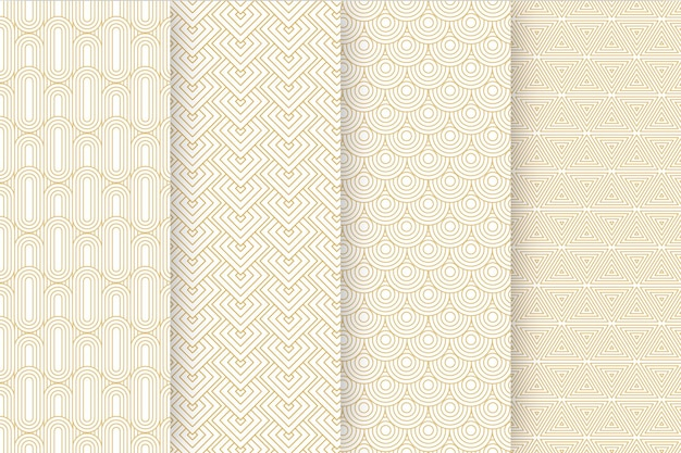 Flat art deco pattern collection
