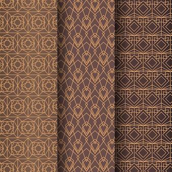 フラットなアールデコ パターン コレクション