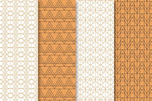 Flat art deco pattern pack
