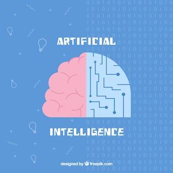 평면 인공 지능 배경