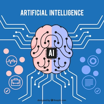 Flat artificial intelligence background