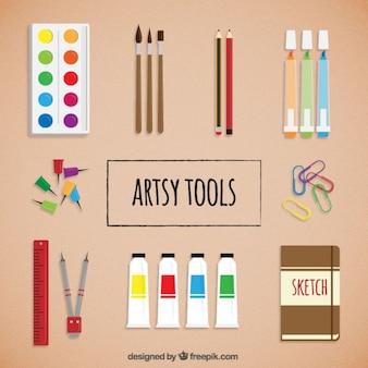 평평한 arty 도구