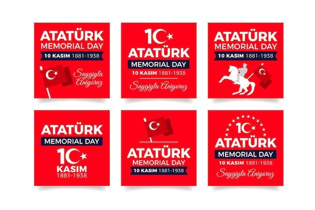 플랫 아타투르크 기념일 인스타그램 게시물 모음