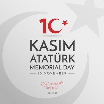 Giornata commemorativa di atatürk piatta