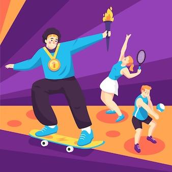 평면 올림픽 2021 그림