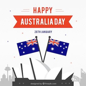 Фон дня плоской австралии