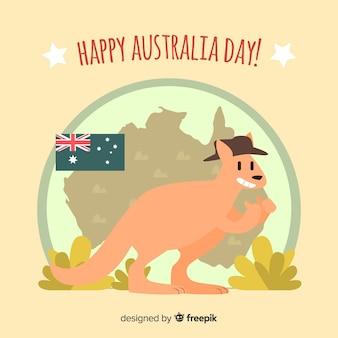 Flat  australia day background