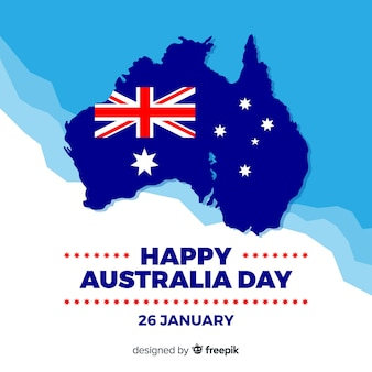 Flat australia day background