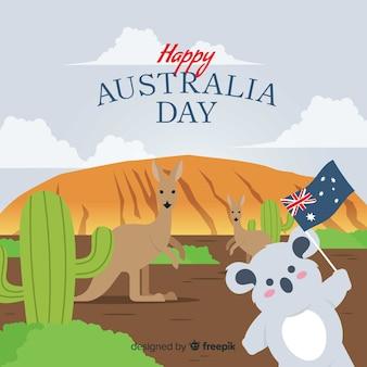 Плоский австралийский день фон