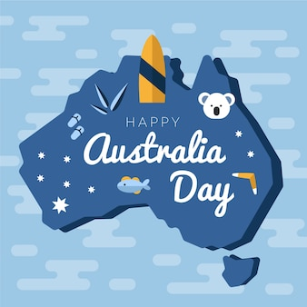 Flat australia day celebration design