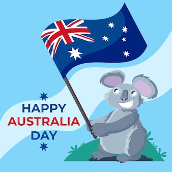 Flat australia day illustration Free Vector