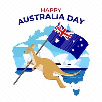 Flat australia day illustration