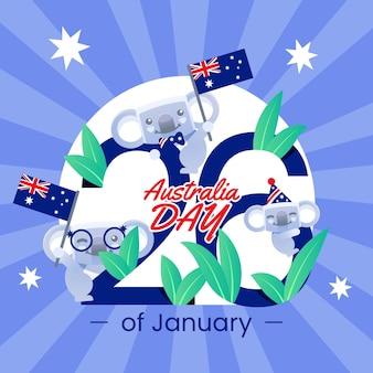 Плоский день австралии