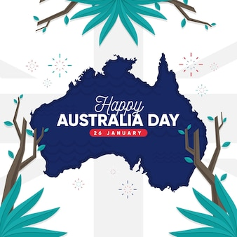 Flat australia day template