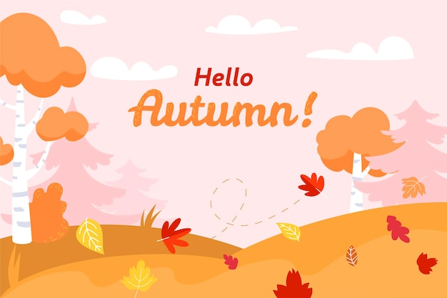 Flat autumn background concept