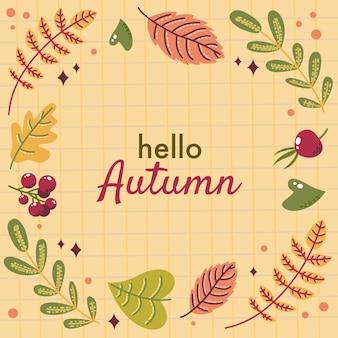 Flat autumn background vector