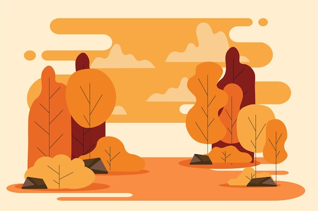 평평한 가을 배경