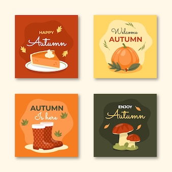 フラット秋のカードコレクション