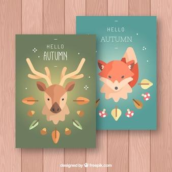 사슴과 여우와 플랫가 카드