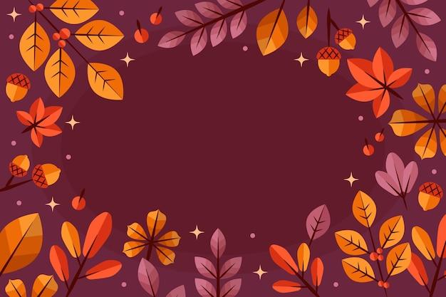Sfondo di foglie autunnali piatte