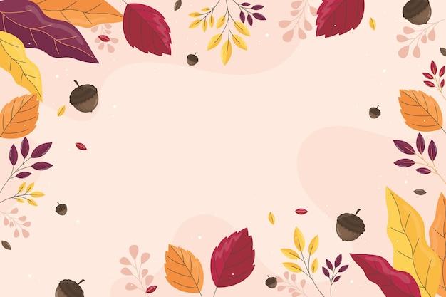 Плоские осенние листья фон