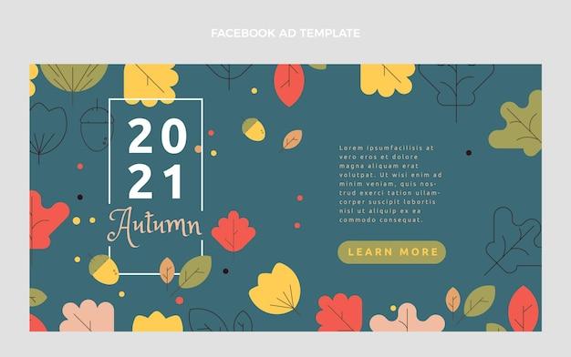 Flat autumn social media promo template