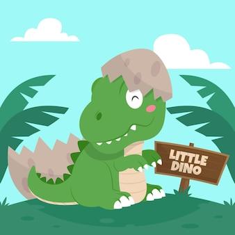 Dinosauro piatto bambino illustrato