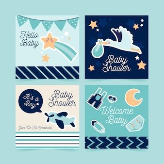 Flat baby shower instagram post collection