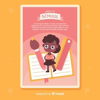 Flat back to school card template