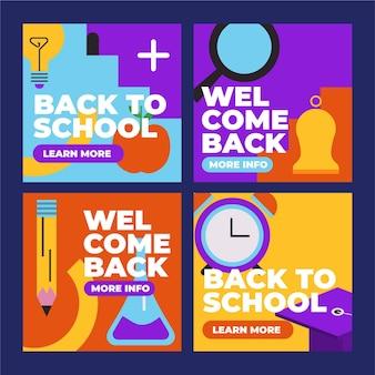 Flat back to school instagram posts