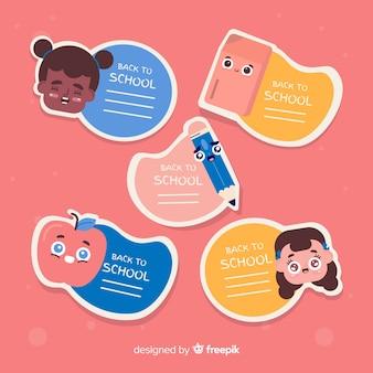 Ritorno alla raccolta di etichette scolastiche