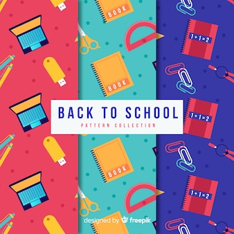 Flat back to school sales pattern collection