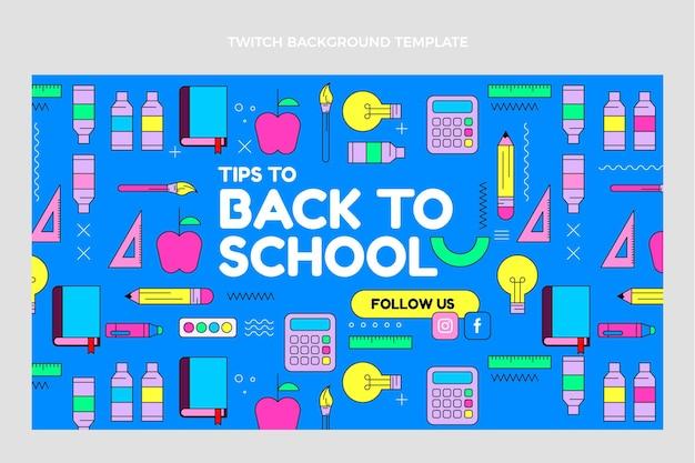 Flat back to school twitch background