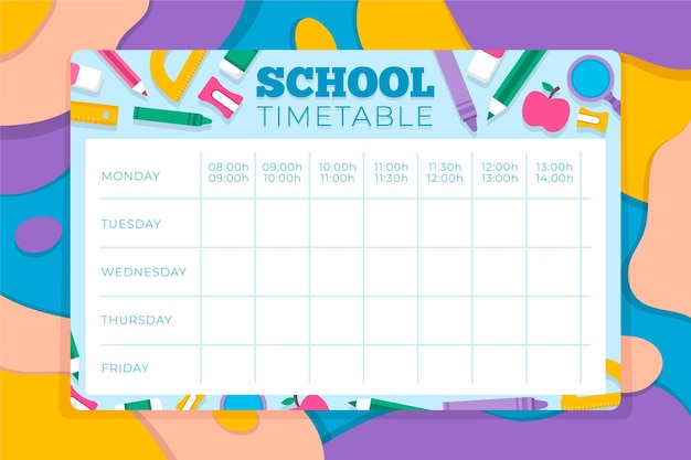 학교 시간표로 돌아 가기