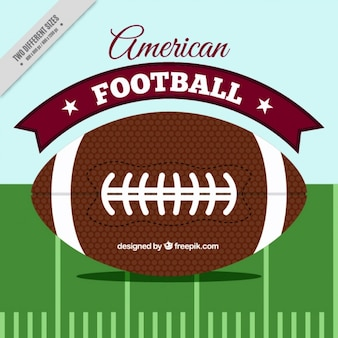 Flat background of american football