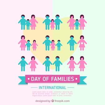 가족의 국제적인 날을위한 평면 배경