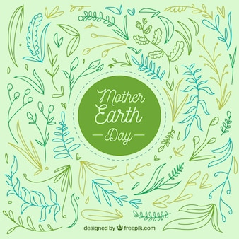 Flat background for mother earth day