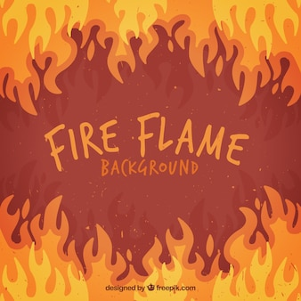 Flat background of flames in different colors