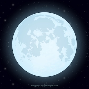 Flat background of shiny moon