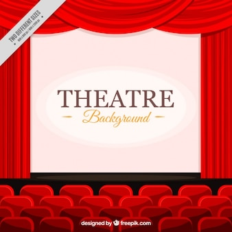 Flat background of theater