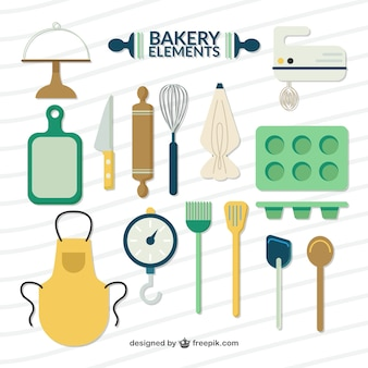 Flat bakery elements and accessories