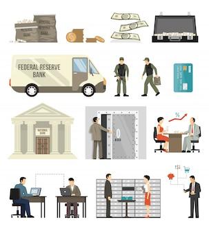 Flat banking set