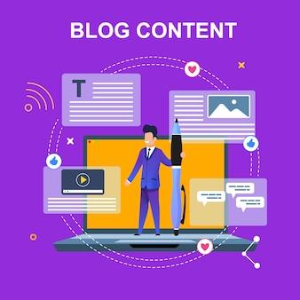 Flat banner blog content