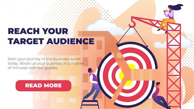 Flat banner written reach your target audience.